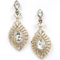 New Arrival Fashion women statement  big water drop crystal stud Earrings for women girl earring Factory Price