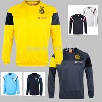 2014 2015 Dortmund Soccer Sweatshirts Long-sleeved Knitted Sports Sweater Borussia Dortmund Football Training Sweater