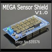 V1 MEGA Sensor Shield V1.0 V2.0 MEGA 2560 Support IIC Bluetooth, SD robot parts mega2560 Sensor Shield for arduino