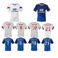 2015 olympique lyon Soccer Jersey thai quality 14 15 Lyon white blue GRENIER GOURCUFF LACAZETTE GONALONS Football shirt custom