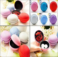 Trendy Solid Round Coin Purses For Women Candy Colors Portable Canvas Round Mini Key Coin Bag Wallet Zipper Earphone Bags