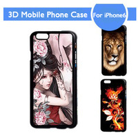 Hot Sale 3D Mobile Phone Case Painting Cartoon Animation Protective Case Cover For Apple iPhone6