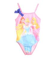 3-12yrs grils Swimwear princess design childrens Swimsuit One-piece Tankini Bathing Bather elastic fabrics 963