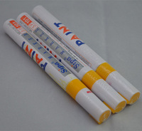 Free Shipping Lot 3Pcs High Quality Yellow Color Marker Paint Painting Pen Tires Repair Pen For Car Motorcycle Tyre Tread