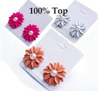Min Order 9$! Fashion Daisy Flower Earrings Studs for Women Jewelry Wholesale
