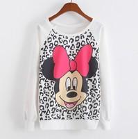 [Amy] free shipping 2014 new sweatshirt for women High quality Animal single printing women's cotton no fleece hoodies 8model