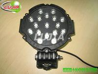 "new 6.3""inch 51w led Work Light Square Offroad LED work light IP6712v 24v 6000K PMMA Lens SUV 4WD ATV with EMC function"