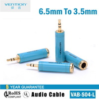 Vention Headphone adapter 3.5 to 6.5 audio adapter earphones speaker adapter cable male 3.5mm to female 6.5mm VAB-S04-L
