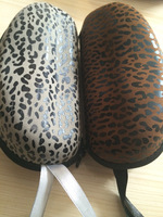 Free shipping 2014 fashion sports glasses cases hard quality sunglasses bags sexy leopar glasses boxes