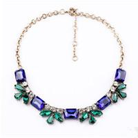 Fashion Accessories Transparent Flower Gem Pendant Women Necklace Party Wedding Vintage Brand Jewelry Wholesale