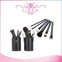 Big discount Purple color Professional makeup brush set 12pcs/Set Pro Cosmetic Makeup Brushes Set Facial Make up Tool Black
