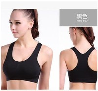 9pcs/lot,Free Shipping cheap Women's sports Bras,pads support with yoga wear,women's Sports ware,2 colors available under bra