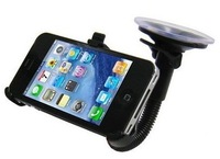 Mobile Phone Car Stand Sucker Holder for Apple iPhone 5 5S Black