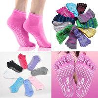 Women Rubber Yoga Gym Dance Sport Exercise Socks Non Slip Massage Fitness Warm