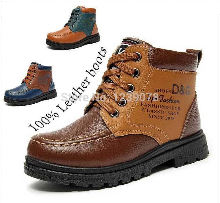 Kids 2014 hiver, chaussures de bébé pour enfants de neige bottes en cuir véritable pour les garçons et les filles des bottes d'hiver pour enfants martin bottes, 0270