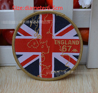 uk flag map brand logo Embroidered cartoon patch sew on Motif Applique, garment embroidery DIY accessory 10pcslot