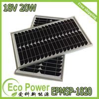 20W 18V monocrystalline silicon Solar Panel