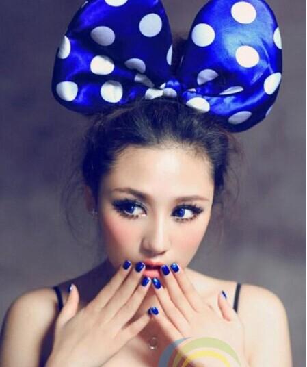 6 pcs / lot LED light New Minnie Mouse hairbands large polka dot bow party headband costume Carnival Karnival gift(China (Mainland))