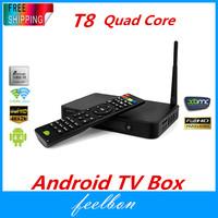 FeelbonT8 Mini PC Android Quad Core Amlogic S802 M8 XBMC TV BOX 4K Media Player Wifi Bluetooth HDMI USB Miracast DLNA