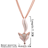 Wholsale new FASHION jewelry  18K Crystal Sweater chain Gold plated NECKLACE Penoyjewelry LKN18KRGPM006