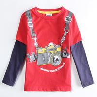 Wholesale A5630 NOVA Clothing Children Boys T shirt Autumn Cartoon T shirt Cotton Printed Tees for Baby Boy Clothes Boy Tees