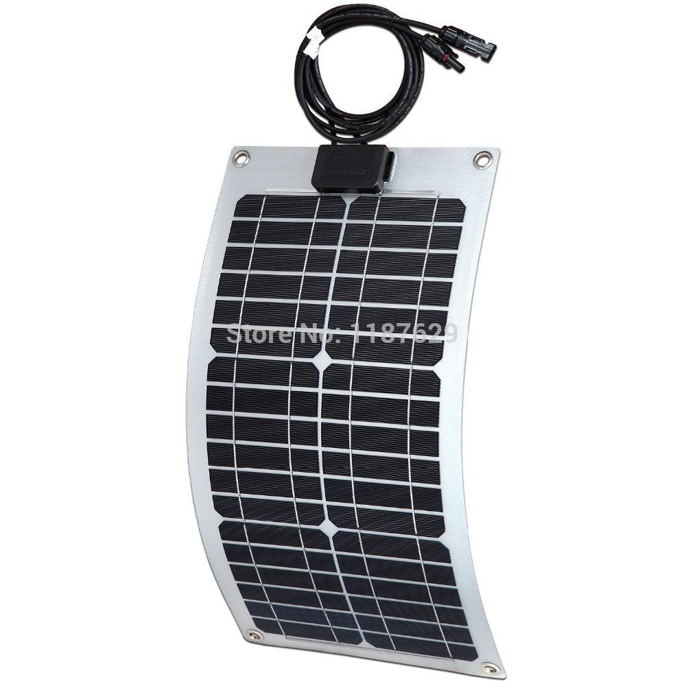 Light Weight Semi Flexible Solar Panel 20W(China (Mainland))