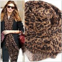 New! Large Leopard Silk Scarves Long Spot Scarf chiffon Wrap Headscarf Shawls Sexy warm soft lady Xmas gifts 10pcs/lot