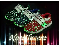 2014 Size 26-30 Children Fashion Lighted Number N Star Hook Sneakers Boys and Girls Cute Sneakers Kids Sport Shoes