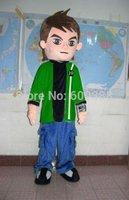 New adult mascot costume ben 10 boy costume top fancy dress christmas cartoon character happy kids party costume