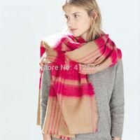 Za Winter Brand famous Women Scarves Imitation Cashmere Plaid Scarf Spain Scarf Shawl size 200*100cm