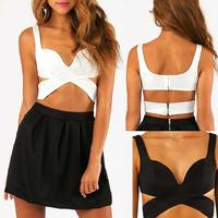 Free Shipping 2015 New Sexy Women Bandage Bustier Bra Bralette Corset Clubwear Casual Tank Crop Top M-XL