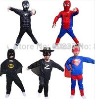 Stage clothing Zorro Halloween Batman Children's performance clothing cosplay Spiderman Batman suit superman costume