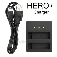 Fits for GoPro Hero 4 AHDBT-401 Dual Battery Charger SmartPhone POWER BANK USB Charger to GoPro Camera Accessories