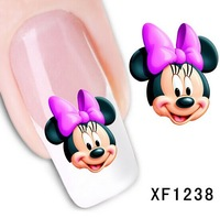30 Sheets New 3D Nail Art Acrylic Manicure Tips Cartoon Decal Stickers DIY Nail Decoration Free shipping wholesale 1238