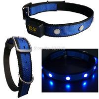 Blue Big Dog Collar LED Pet Collar Led Flashing Dog , LED Dog Collar Blue Collar for Dog