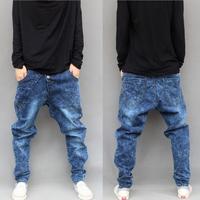 free shipping cool  Regular Harem men jeans Solid Modern 2014 Hiphop Jeans Male Big Crotch Pants Harem Plus Size  low rise jeans