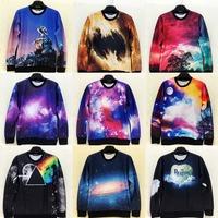 2015 New Fashion 3D unisex sweatshirts and hoodies Black Hole Solar galaxy System print women sweaters mens pullovers streetwear