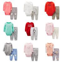 9 Models 2014 New Original Carter's Baby Girls 2-piece Bodysuit Pant Set, Carters Clothing Set,  Freeshipping ( in stock )