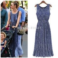 New 2014 Cotton Floral Maxi Dress,Women Casual Vintage Long Dress,Women Summer Dress,Bodycon Summer Maxi Dresses
