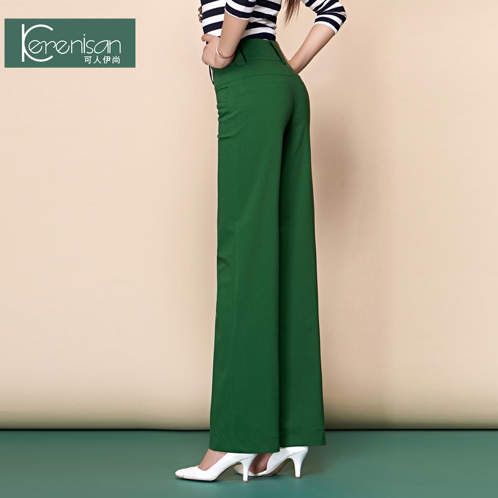 2015 winter formal pants women black wide leg pants female trousers high waist plus size 5XL pantalones mujer calca feminina(China (Mainland))