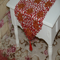 Red & gold  Runner Table runner Wedding table cove hotel table cloth  use to home hotel dining room NO.6128
