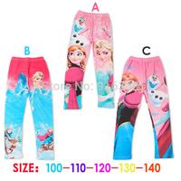 Wholesale-Frozen Elsa Anna girls children leggings long leggings 3 designs 5pcs/lot