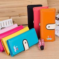 Han Fan fashion ladies purse large capacity 30 percent mobile phone bag wallet Taobao explosions LOVE heart beard