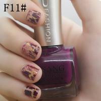 sale 2pcs gsang brand new  crack china crackle nail lacquer polish with free shipping 24 glaze shatter colors nail art varnish