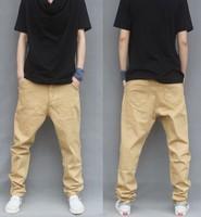free shipping  2014 Regular Flat Mens Joggers  cotton Casual Pants Male Light Color Taper Plus Size Harem pants