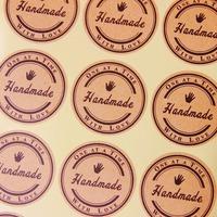 Handmade With Love - Kraft Stickers 600pcs/lot