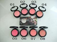 FREE dhl/ems  2014 Newest arrived (48pcs/lot) brand mc Makeup powder Blush  8color