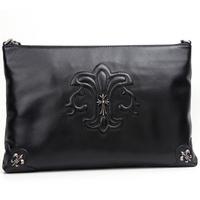 Genuine leather A briefcase Leather handbag unisex Women's bag Man bags Inclined shoulder bag Single shoulder bag large package