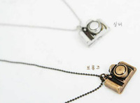 Best price fashion Korea hot sale vintage small camera necklace sweater chains 20pcs