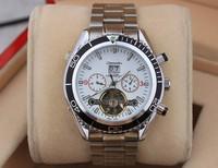 2014 classic flywheel design om01 luxury brand Men full steel watch mechanical watch mens self-wind watch male clock relogio